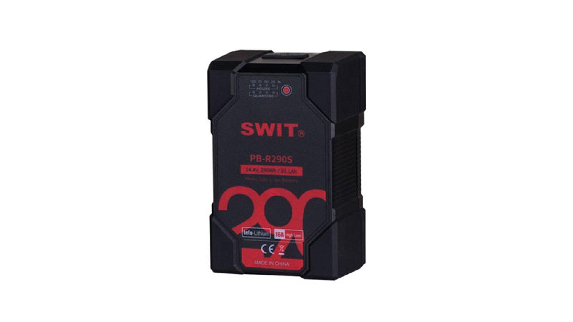 Swit PB R290S | Batteria V lock heavy duty 290Wh per telecamere Cine ed ENG, luci LED, monitor, ponti radio e follow focus | Batterie V Lock