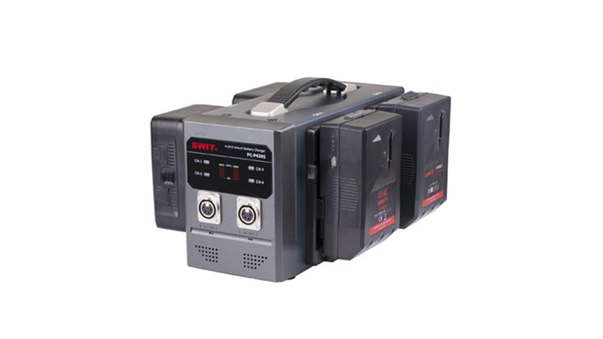 Swit PC P430S | Caricabatterie Swit quadruplo per batterie V lock | Batterie V Lock