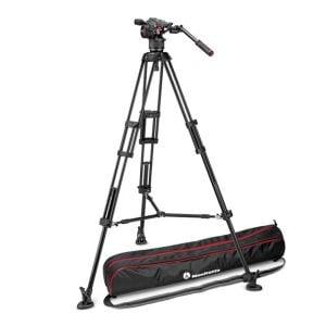 Manfrotto MVKN8TWINM | Kit Nitrotech N8, treppiede 546B doppio tubo con spreader | Kit con gambe