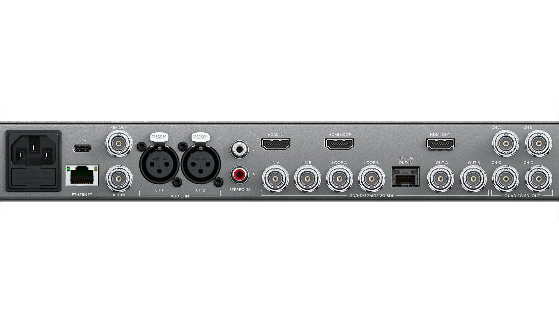 Blackmagic TERANEXEXPAV12GQL | Convertitore di standard Teranex AV | Convertitori | Distributori