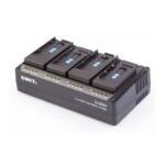 LC-D421_Swit_Caricabatterie SWIT per 4 batterie DV di vario tipo con piastre interscambiabili